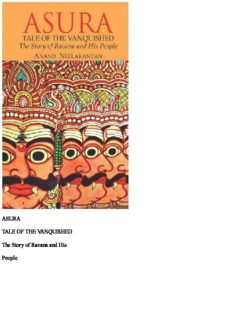 ASURA TALE OF THE VANQUISHED The Story of Ravana and His People