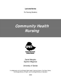 Community Health Nursing - Carter Center
