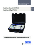 Wally Box III model CPH7600 Wally Box III Typ CPH7600 - Wika