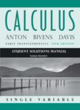 Student Solutions Manual to accompany Calculus Early Transcendentals, Single Variable, Tenth ...