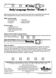 Daily Language Review, Grade 1