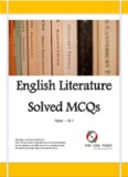 English Literature Solved MCQs