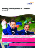 Starting primary school in Lambeth 2015/16 - Lambeth Council