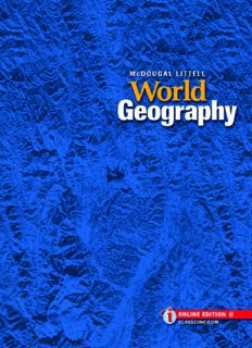 World Geography. Student Textbook. Grades 9-12
