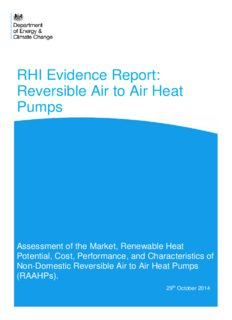 RHI Evidence Report: Reversible Air to Air Heat Pumps