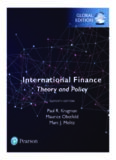 International finance : theory et policy