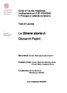 Le Strane storie di Giovanni Papini