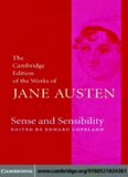 Sense and Sensibility (The Cambridge Edition of the Works of Jane Austen)