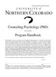 Counseling Psychology (PhD)