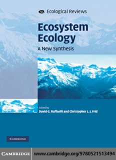 Ecosystem Ecology: A New Synthesis (Ecological Reviews)