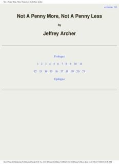 Jeffrey Archer – Not a Penny More, Not a Penny Less