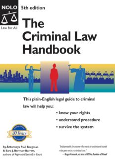 The Criminal Law Handbook: Know Your Rights, Survive the System (Criminal Law Handbook)