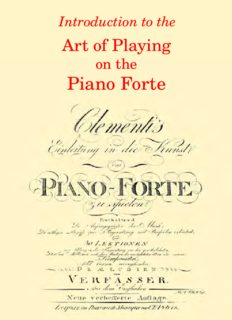 Introduction to the Art of Playing on the Piano Forte. Op.42