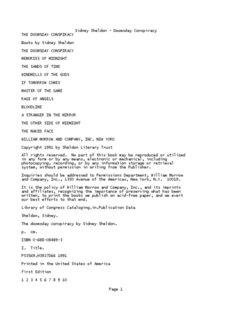 Sidney Sheldon - Doomsday Conspiracy - Notepad