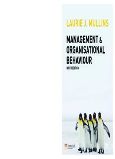 laurie j. mullins management & organisational behaviour
