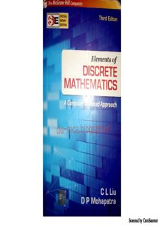 Elements of Discrete Mathematics Liu Mohapatra 3rd