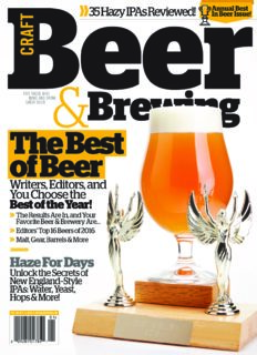 Craft Beer and Brewing – Beer and Brewing (Dec 2016-Jan 2017) – Unfiltered Media Group