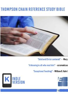 Thompson Chain Reference Study Bible (Kindle Edition)
