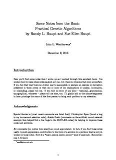 Practical Genetic Algorithms by Randy L. Haupt and Sue Ellen Haupt