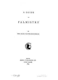 A guide to palmistry / by Eliza Easter-Henderson.