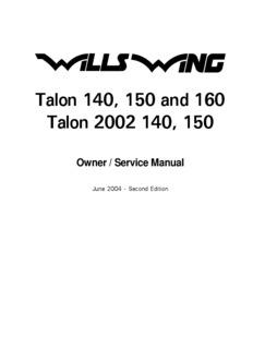 Talon 140, 150 and 160 Talon 2002 140, 150