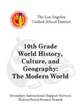 10th Grade World History, Culture, and Geography: The Modern World