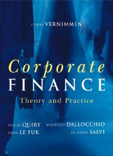 CORPORATE FINANCE Corporate finance Theory and Practice