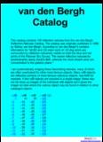 van den Bergh Catalog