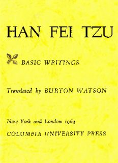 Burton, Watson - Han Fei Tzu