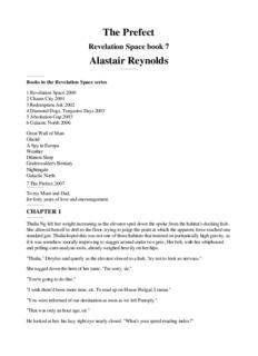 The Prefect Alastair Reynolds