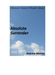 Absolute Surrender by Andrew Murray - Elim