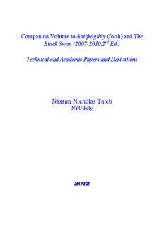 Nassim Nicholas Taleb - Forex Trading Strategies
