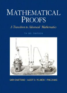 Third Edition Mathematical Proofs A Transition to Advanced Mathematics Gary Chartrand