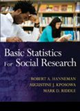 Research Methods for the Social Sciences: Basic Statistics for Social Research