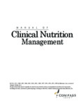 Manual of Clinical Nutrition Management