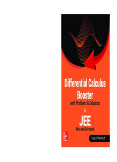 Differential Calculus Booster with Problems and Solutions for IIT JEE Main and Advanced Rejaul Makshud McGraw Hill