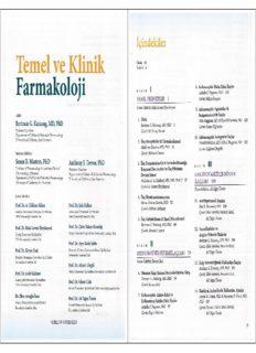Temel ve Klinik Farmakoloji (Bertram G. Katzung)