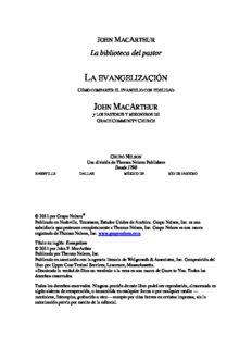 John MacArthur – Evangelización, La
