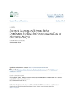 Statistical Learning and Behrens Fisher Distribution Methods for Heteroscedastic Data in ...
