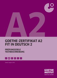 goethe-zertifikat a2 fit in deutsch 2
