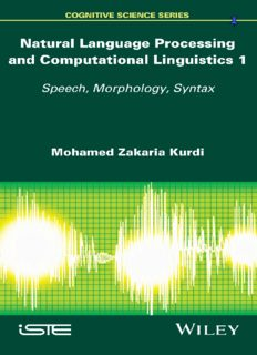 Natural Language Processing and Computational Linguistics: Speech, Morphology and Syntax