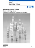Vickers Cartridge Valves Pressure Control Valves