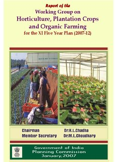 Horticulture, Plantation Crops and Organic Farming - of Planning
