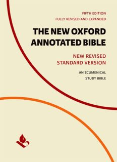 The New Oxford Annotated Bible : New Revised Standard Version—An Ecumenical Study Bible