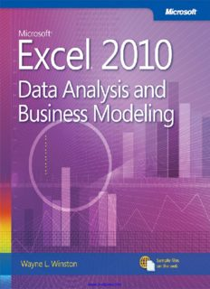Microsoft Excel 2010: Data Analysis and Business Modeling eBook