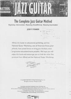 The Complete jazz Guitar Method
