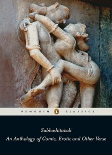 Subhashitavali: An Anthology of Comic, Erotic and Other Verse