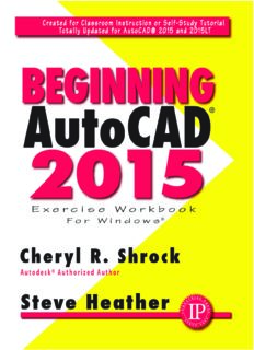 Beginning AutoCAD 2015. Shrock, Steve Heather: exercise workbook