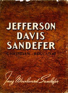 Jefferson Davis Sandefer Christian Educator - Hardin-Simmons