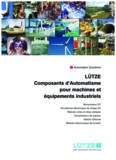 LÜTZE Composants d'Automatisme pour machines et équipements industriels